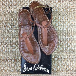 Sam Edelman Brown Gigi Leather Thong Sandal